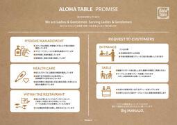 新たなガイドライン「ALOHA TABLE PROMISE」について